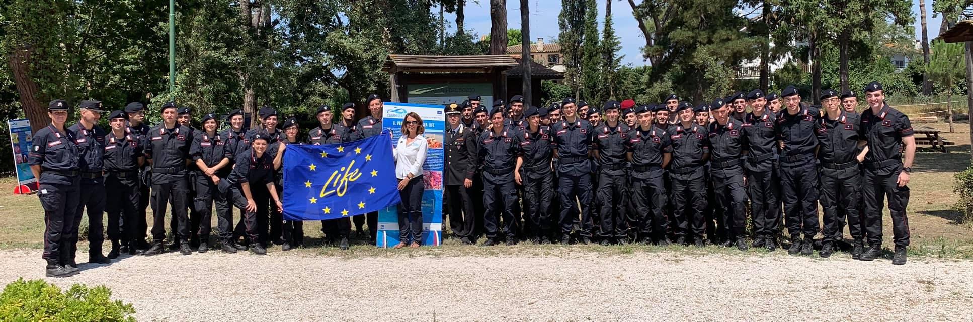 con gli allievi ufficiali dei Carabinieri