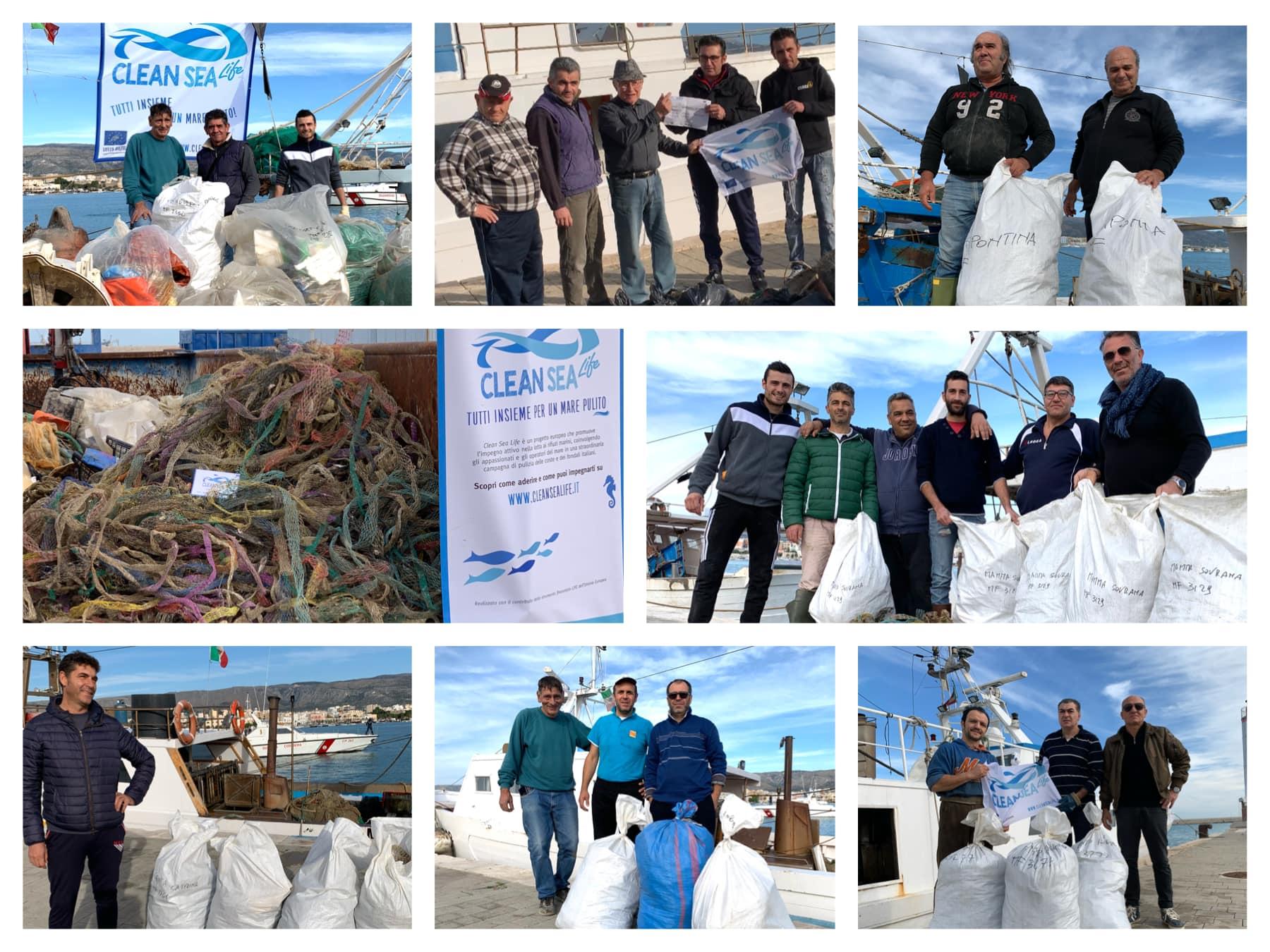 a pesca di rifiuti a Manfredonia