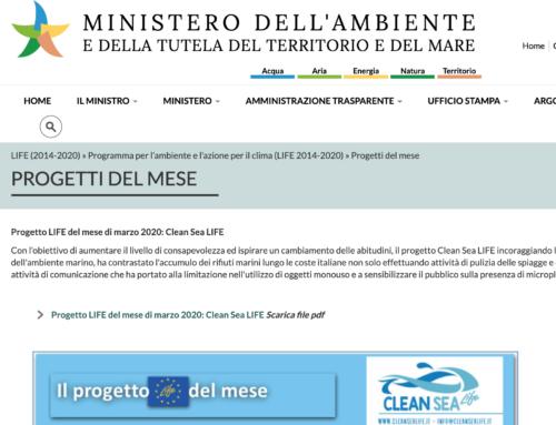 Siamo il progetto LIFE del mese del Ministero dell'Ambiente